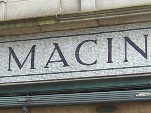 Detail of mosaic fascia, Esslemont & Macintosh, Aberdeen