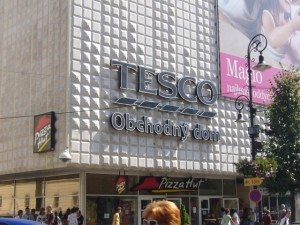 Tesco in Košice, Slovakia (2 Sep 2008). Photograph by Graham Soult