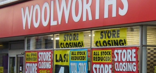 Closing down sale at Woolworths