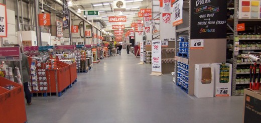 B&Q store. Photograph by David Wright