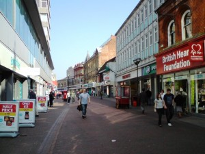 Looking towards the Co-op / Vergo / unnamed store in Carr Street, Ipswich. Photograph by Tim Marchant