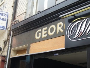 Fascia of former George Rye store, Newcastle