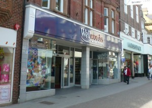 Wellworths store in Dorchester. Photograph by Nigel Mykura