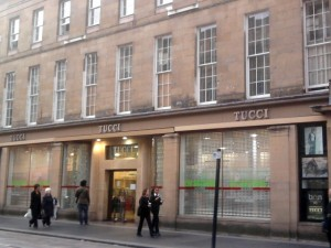 Reopened Tucci store in Newcastle