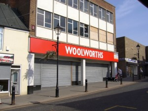 Former Woolworths in Houghton-le-Spring (11 Sep 2009). Photograph by Graham Soult