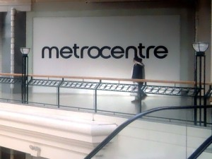 MetroCentre logo on empty unit