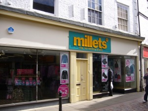 Millets in Hexham (photographed on 3 October)