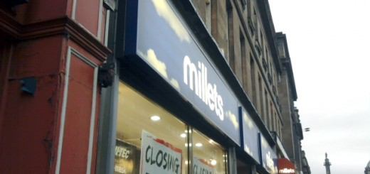 Millets in Newcastle, prior to closure (6 Oct 2009). Photograph by Graham Soult