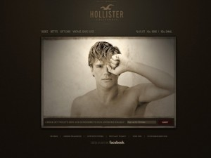 Hollister's website, including the '1922' device