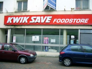 Former Kwik Save, Holyhead (23 Sep 2009). Photograph by Graham Soult