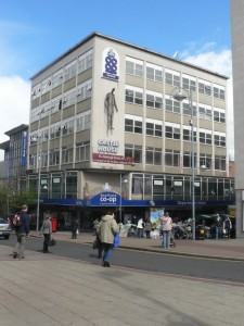 Sheffield Co-op, photographed by Chris Downer on 27 April 2008 (the day after closure)