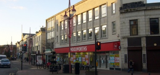 Woolworths in Whitley Bay, just prior to closure