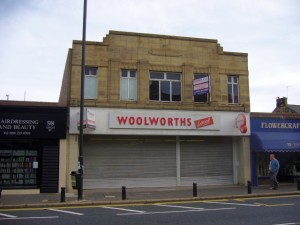 Former Woolworths, Gosforth (27 Sep 2009). Photograph by Graham Soult