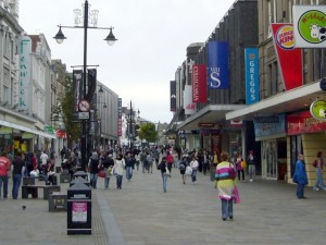 Northumberland Street, Newcastle (27 Sep 2009). Photograph by Graham Soult