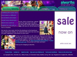 Alworths' website