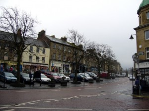 The junction of Bondgate Within and Market Street, Alnwick (23 Jan 2010). Photograph by Graham Soult