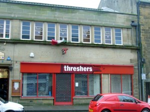Former Threshers, Alnwick (23 Jan 2010). Photograph by Graham Soult