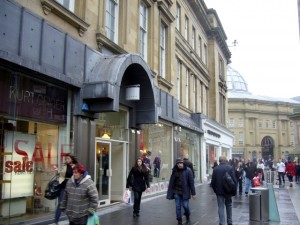 Existing ground floor retailers at 139-153 Grainger Street (22 Jan 2010). Photograph by Graham Soult
