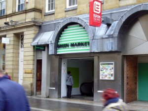 Green Market entrance, Nelson Street (22 Jan 2010). Photograph by Graham Soult