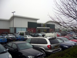 M&S at Ventura Park, Tamworth (24 Dec 2009). Photograph by Graham Soult