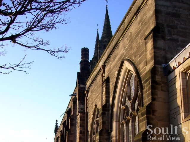 St Editha's Church, Tamworth (22 Dec 2008). Photograph by Graham Soult
