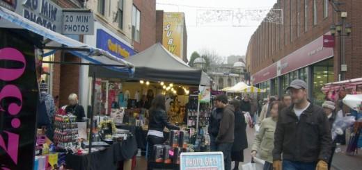 Tamworth Market (24 Dec 2009). Photograph by Graham Soult