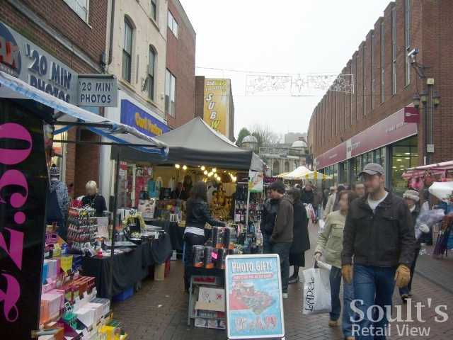 Tamworth Market (24 Dec 2009). Photograph by Graham Soult