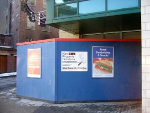 Tesco Express, Eldon Garden (30 Jan 2010). Photograph by Graham Soult