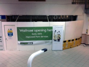 Upcoming Waitrose at Welcome Break's Hopwood Park Services (24 Jan 2010). Photograph by Mark Leaver