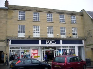Former Woolworths (now M&Co), Alnwick (23 Jan 2010). Photograph by Graham Soult
