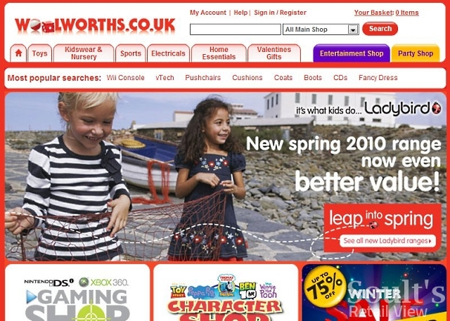 Shop Direct's Woolworths.co.uk back in 2010