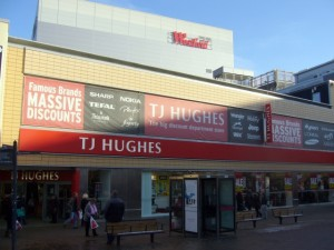 Former Woolworths (now TJ Hughes), Westfield, Derby (23 Dec 2009). Photograph by Graham Soult