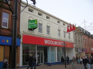 Former Woolworths, Dumfries (29 Dec 2009). Photograph by Graham Soult