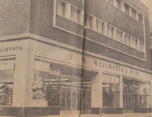 Woolworths in Linthorpe Road, Middlesbrough on its opening day of 3 September 1958. Photograph courtesy of Evening Gazette