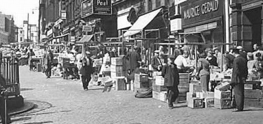 1950s scene showing Maurice Gerald in Newcastle's Bigg Market