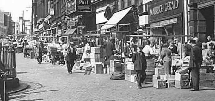 1950s scene showing Maurice Gerald in Newcastle's Bigg Market
