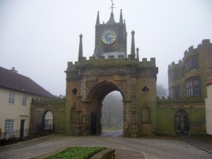Entrance to Auckland Castle (6 Feb 2010). Photograph by Graham Soult