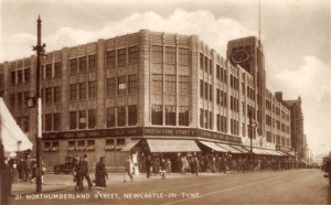 Old postcard of ex-BHS prior to rebuilding, Northumberland Street, Newcastle