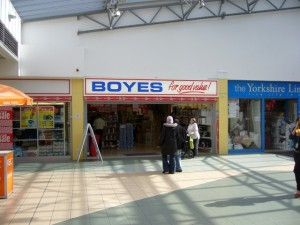 Boyes, Dundas Arcade, Middlesbrough (17 Sep 2009). Photograph by Graham Soult