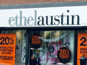 Ethel Austin store, Byker. Photograph by Graham Soult