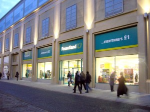 Poundland, Clayton Street (16 Feb 2010). Photograph by Graham Soult