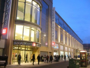 Clayton Street frontage to Eldon Square (16 Feb 2010). Photograph by Graham Soult