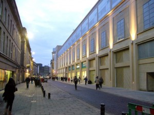 Clayton Street frontage, Eldon Square (16 Feb 2010). Photograph by Graham Soult