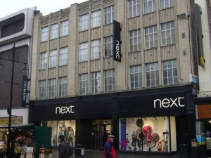 Current Next - and soon to be BHS - in Northumberland Street, Newcastle (5 Feb 2010). Photograph by Graham Soult