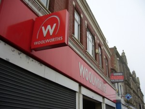 Former Woolworths, Bishop Auckland (6 Feb 2010). Photograph by Graham Soult
