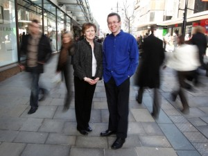 Yours truly in Northumberland Street, with Marketwise Strategies MD Jacquie Potts