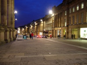 Grey Street, Newcastle (16 Feb 2010). Photograph by Graham Soult