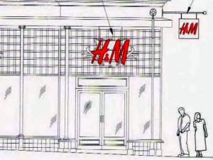 Signage as originally proposed (courtesy of John Cunnington Architects)
