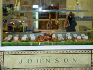 Butchers shop in Barnard Castle (6 March 2010). Photograph by Graham Soult