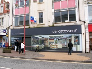 The former Select store in Whitley Bay, following its 'Shopjacketting'